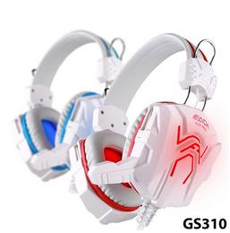 Free shipping++ 3.5mm Gaming Headphone White+Blue Headset+Mic For FPS LOL For PS4 Laptop Blue LED Earcup KOTION EACH GS310