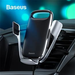 Baseus 15W Qi Wireless Charging Air Vent Mount Car Phone Holder for iPho...