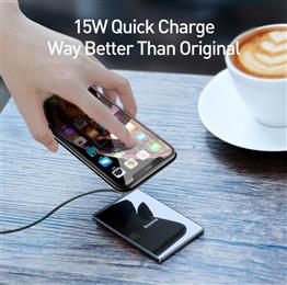 Baseus 15W Qi Wireless Charger Ultra Slim Fast Wirless Wireless Charging Pad For iPhone X Xs Max