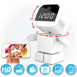 Wireless Robot 960P IP Camera WIFI Clock Network CCTV HD Baby Monitor Remote Control Home Security Night Vision