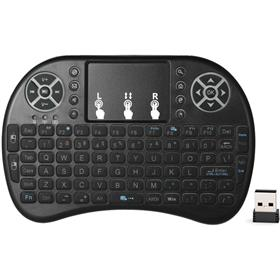 Backlit 2.4GHz Wireless Keyboard Air Mouse Touchpad Handheld Remote Control