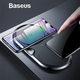 Baseus 10W Dual Seat Qi Wireless Charger Fast Wireless Charging Pad