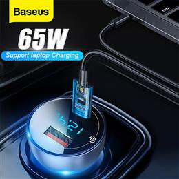 Baseus 65W Car Charger Dual USB Quick Charge 4.0 3.0 USB Car Charger