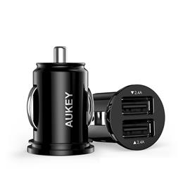 Car Charger, AUKEY Fast Dual Port 4.8A USB Car Mobile Phone Charger