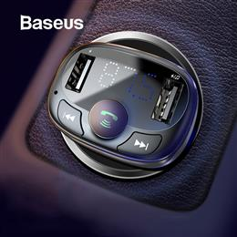 Baseus Car Charger for iPhone Mobile Phone Handsfree FM Transmitter Bluetooth LCD MP3 Player S-09A
