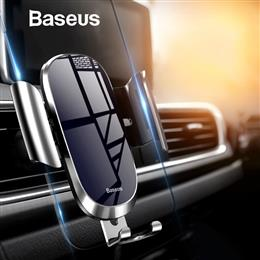 Baseus Car Phone Holder Metal Gravity Air Vent Mount  for iPhone Samsung...
