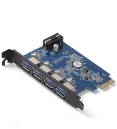 Free Shipping Desktop With VLI Chipset 4 Port USB 3.0 PCI Card