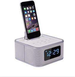 Bluetooth Speaker Dock Alarm Clock Portable Wireless Bluetooth Speaker FM Radio S1 Pro for iPhone Audio TF Card AUX-in