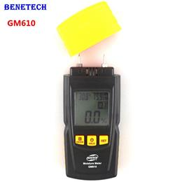 Handheld Wood Moisture Meter with Temperature Humidity Tester LCD Backlight