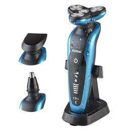 3 in1 Washable Rechargeable Electric Shaver Triple Blade Electric Shaving Razors