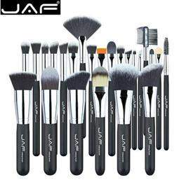 JAF Vegan 24 Pcs Professional Makeup Brushes Very Soft Synthetic Taklon ...
