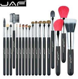 AF 18 Pcs Make Up Brush Set Natural Super Soft Red Goat Hair   Pony Horse Hair Studio Beauty Artist Makeup Brushes J1813AY-B