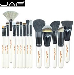 AF Brand 15 PCS Makeup Brush Set Professional Make Up Beauty Blush Foundation Contour Powder Cosmetics Brush Makeup J1501M-W