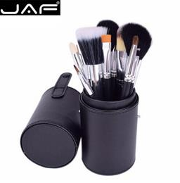 JAF Brand 12 Pcs Makeup Brushes Kit Studio Holder Tube Convenient Portab...