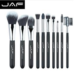 JAF Fashionable 10 pieces Cosmetic Makeup Brush set Professional Soft Ta...