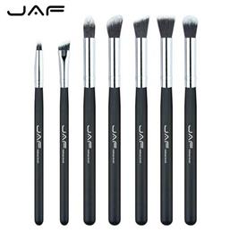 JAF Brand 7 pcs/set Professional Portable Makeup Brushes of Eye Blending Eyeshadow Smudge Shading Brushes JE07SSY-B