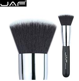 JAF18SSYL Flat Top Kabuki Brush Extra Large Face Make Up Cosmetic Brush Soft Synthetic Taklon Hair