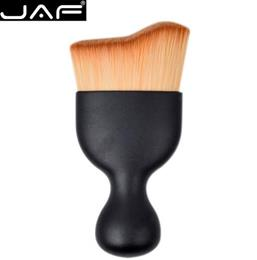 JAF S Shape Makeup Brush Wave Arc Curved Hair Shape Wine Glass Base Foun...