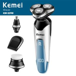 Kemei 3D Electric Shaver Razor Men Shaving Machine Nose Trimmer