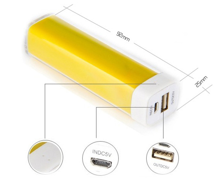 Mini power Bank 2600mAH, Lipstick Appearance Mobile Power, Colorful  Mob...