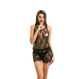 Women Lace Sexy Pajama Sets Sleeveless Pijama Sleepwear
