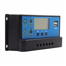 PWM 40A Solar Controller 12V 24V Solar Panel Battery Charge Regulator with Big LCD