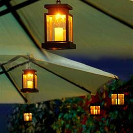 2pcs Solar Led Light Outdoor Home Candle Lantern Solar Powered Light Landscape Umbrella Tree LED