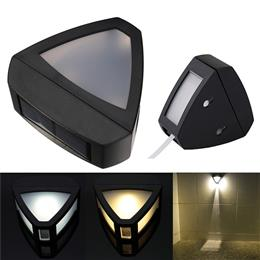 2Pcs New Heart Shape Excellent Quality Automatically Solar Power 2LED Garden Security Light