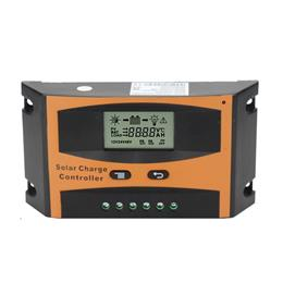 30A Solar Charge Controller 12V 24V With LCD Solar Panel Battery Regulator for Max PV Input 55V