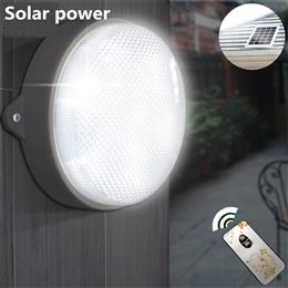 Solar Lights Garden Wall Lamps Solar Powered 9 LED Ceiling Lighting Outd...