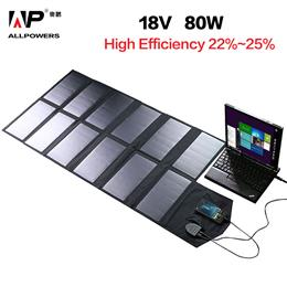 Fold Solar Panel 18V 80W Solar Panel Charger for iPhones Lenovo HP Dell Acer Laptops