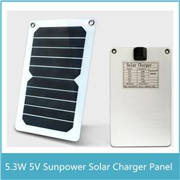 5.3W 5V Sunpower Solar Charger Panel Battery Dual USB Port for iPhone 6s 6 Plus