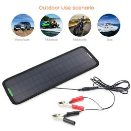 18V 5W outdoor Portable Solar Car Charger Solar Maintainer Charging for Car Automobile Motorcycle Boat Batteries