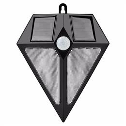 Outdoor LED Lights PIR Motion Sensor 6 LED Light Waterproof Wireless Security Garden Solar Wall Lamp