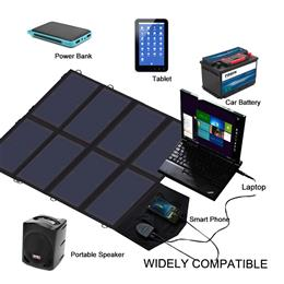 40W Solar Charger Portable Solar Panel Charger for iPhone iPad MacBook Outdoor sunpower charger
