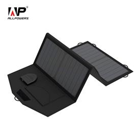 18V 5V 21W Foldable Portable Solar Panel Charger Dual Output Wild Solar Charger for laptops 12V Battery