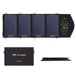 All Powers18W 5V Solar Charger Dual USB Output Fast Charging Solar Charger