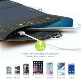 15W 5V Sunpower Solar Charger Panel Battery Dual USB Port for iPhone 6s 6 Plus iPad Air mini outdoor energy