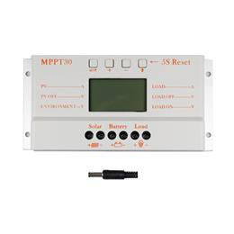 MPPT 30A Solar Controller Charger 5V USB Charger 12V 24V Solar Panel Battery LCD Charger Controller