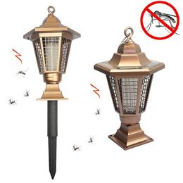 Solar Powered Outdoor Insect Killer Bug Zapper Mosquito Killer Hang gard...
