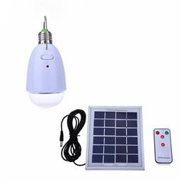 Multi-functional 12 LEDs LED Solar Lamp Dimmable Light remote controller