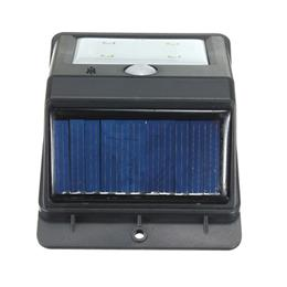 Solar Panel Power 4 LED PIR Motion Sensor Light Rechargeable Outdoor Wat...