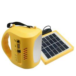 Ambient Weather Compact Emergency Solar Hand Crank FM Radio Flashlight solar power light