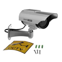 Dummy Security Camera Bullet Cctv Camera Fake Camera Solar and Battery Powered Indoor Outdoor  waterproof
