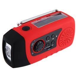 Portable Speaker Emergency Solar Hand Crank FM Radio MP3 Player Flashlight Phone Charger