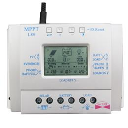 MPPT 80A 12V/24V LCD Solar Battery Charge Controller Solar Tracking System Controller