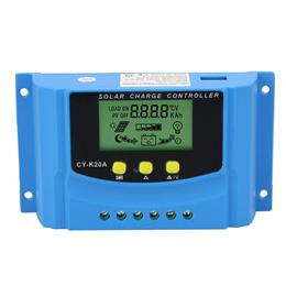 20A Solar Controller 12V 24V Auto LCD Display USB Output 5V 2A Solar Panel Battery Regulator