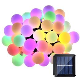 Globe 50 LED Ball String Lights Solar Powered Christmas Light Decorative Lighting for Home Garden