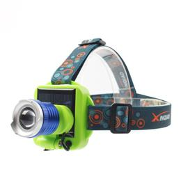 Mini XPE LED Headlamp 3-Mode Solar Charging Panel Head light Torch Lante...