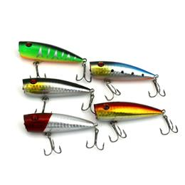 5pcs Top Water Fishing Lure 8.92G 6.5CM Popper Swim Bait Crank Bait
